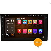 EinCar 7 inch New Android 5.1 OS Car Radio Double Din Quad core Bluetooth Wifi 3G 4G Car Stereo Touch Screen GPS Navigation 1080P Video Audio Media No DVD Player In dash fm/am Radio Receiver Head Unit