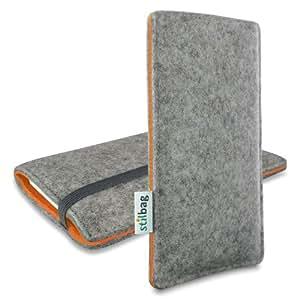 Stilbag Funda de fieltro 'FINN' para Nokia Lumia 520 - Color: gris/naranja