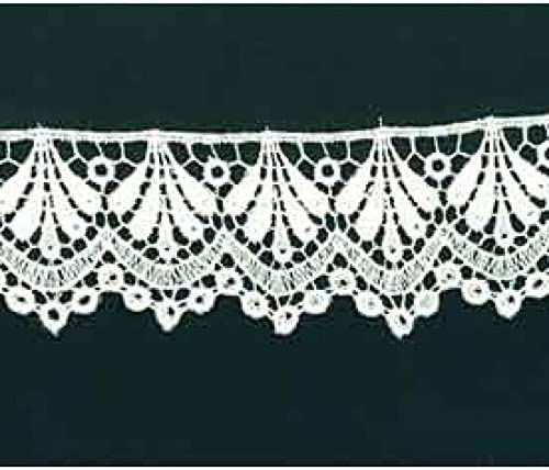 per metre Guipure Lace Trim White