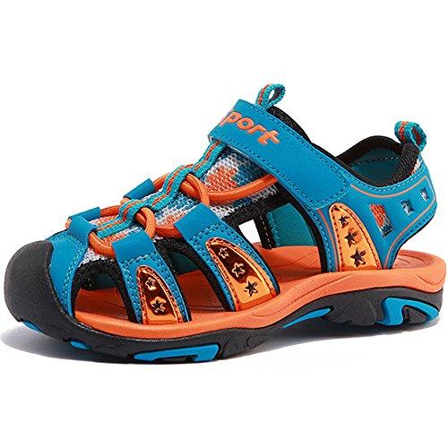 Eastlion Sandales De La Fille Enfant Et Été Peep-toe Garçon Brethable Frais Chaussures De Plage Sandales De Sport D'orange