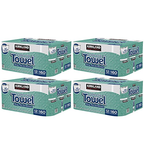 Kirkland Signature Premium Big Roll Paper Towels 48-Roll, 160 Sheets Per Roll by Kirkland Signature