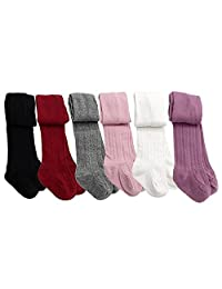6 Pack of Baby Girls Toddler kid Cable Knit Tights Leggings Stocking Pants
