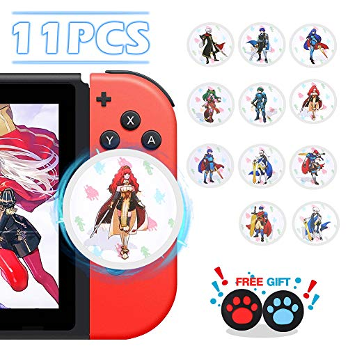 NFC Tag Game Cards for Fire Emblem: ThreeHouses Switch/Wii U - 11pcs Round Mini Cards with Crystal Case (Best Fire Emblem Game)