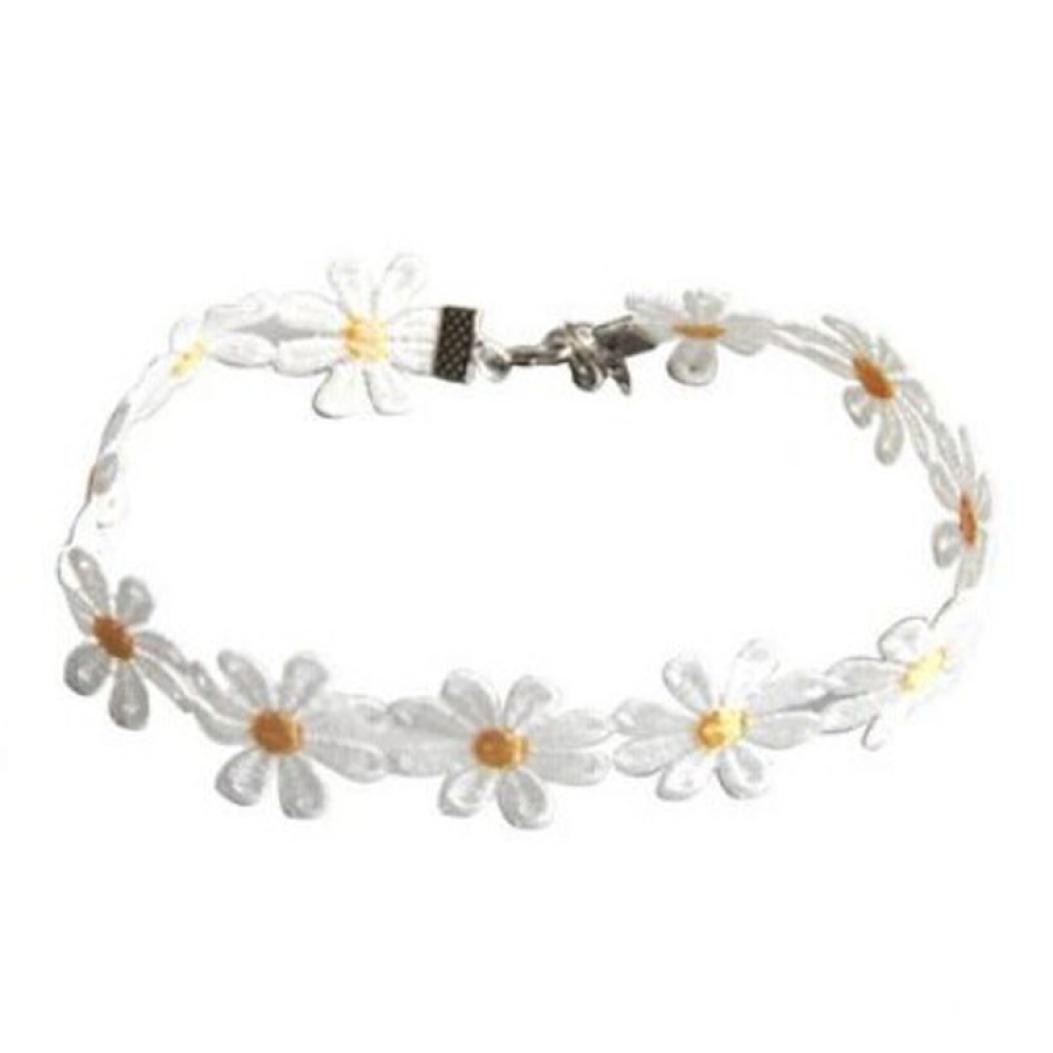 sameno 2018 Fashion Girl Women Delicate Daisy Flower Choker Chain Charm Necklace Bohemia New