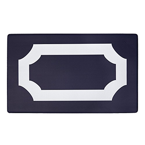 Achim Home Furnishings - Beautiful Anti Fatigue Mat, 18'' x 30'', (Darcy: Navy / White) by Achim Home Furnishings