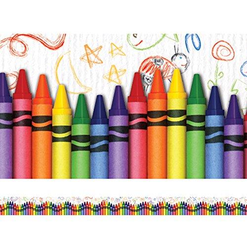 Edupress Crayons Straight Border Trim (EP63269)