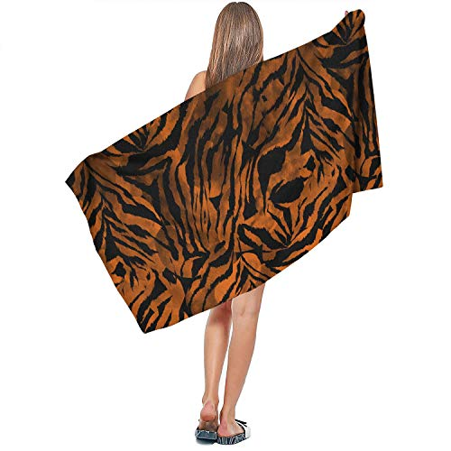 Women Bath Towel Zebra Gradient Tie Dye Colorful Camouflage Swimming Compact Beach Towels for Children and Adults 70 140CM - Tie Dye Zebra
