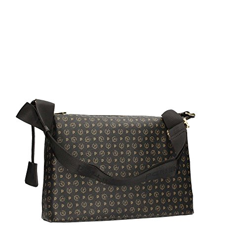Pollini Heritage shoulder bag Pvc calf leither black
