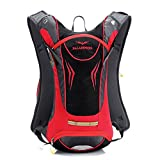 Paladineer 8L Hydration Backpack Daypack Cycling Pack Sport Bag Hiking Backpack Bike Backpack Red