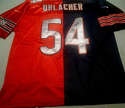 Brian Urlacher Chicago Bears Autographed Signed split Jersey - Size XL - COA - Brian Urlacher Autographed Jersey
