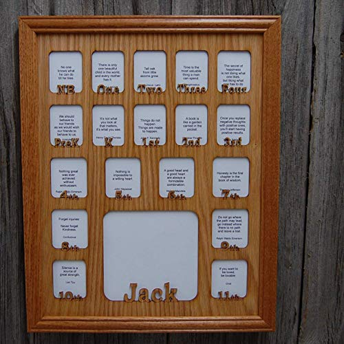 (11x14 Personalized School Years Picture Frame - Newborn to 18 or Birth thru 12th Grade)