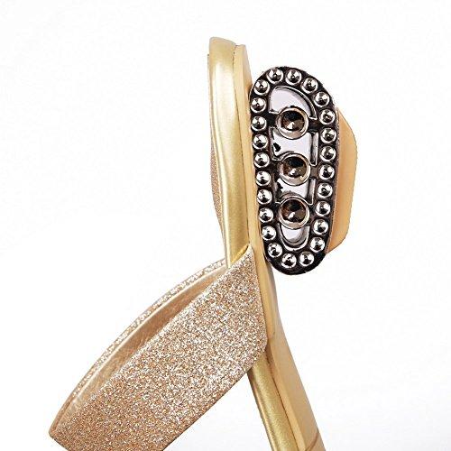Balamasa Dames Europese Stijl Regen Zacht Materiaal Pantoffels Goud