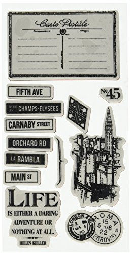 Stamp Graphic - Graphic 45 Cityscapes 3 Ephemera Cards