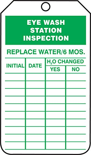 Accuform TRS245PTM RP-Plastic Inspection & Status Record Tag, Legend