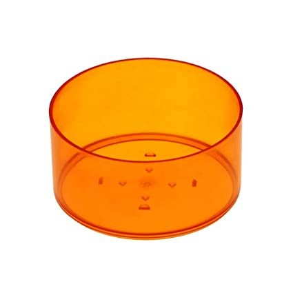 Plastic Light Covers >> Classic Design 39 X 19 Mm Stackable Tea Light Covers Plastic Round Candle Making Orange 25 Stuck