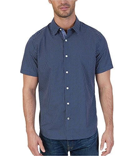 Nautica Mens Micro Dot Button up Shirt Blue XL -
