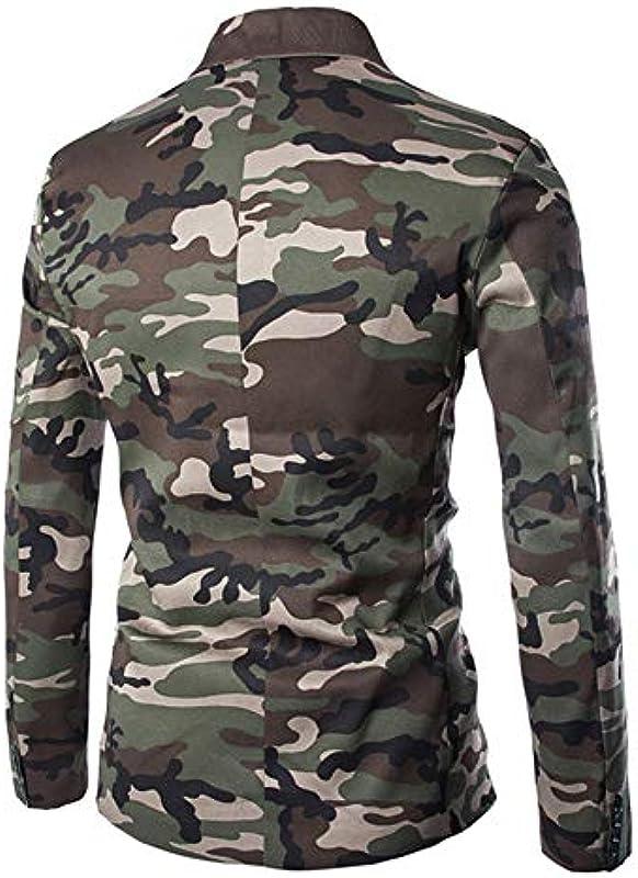 URSING męska kurtka do garnituru, kamuflaż, slim fit, marynarka, na czas wolny, na jesień, zimę, kardigan, trencz z długim rękawem: Odzież
