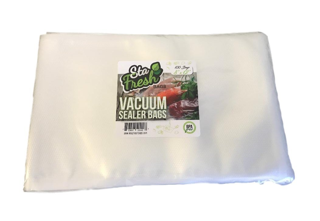 Sta-Fresh 8 x 12 Vacuum Sealer Bags 3.5 mil Quart Size - 100 Count
