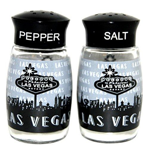 Las Vegas Black and White Repeat Salt and Pepper Shaker Set ()