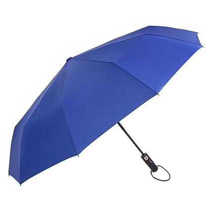 Paraguas de apertura y cierre automático de doble propósito para reforzar el paraguas a prueba de