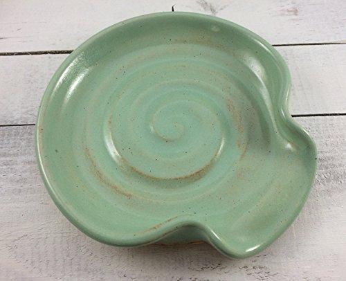 Spoon Rest, Ceramic Spoon Rest in Pistachio Green