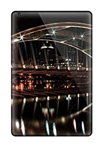 Tpu Case Cover For Ipad Mini 2 Strong Protect Case - Late Night Bridge Design