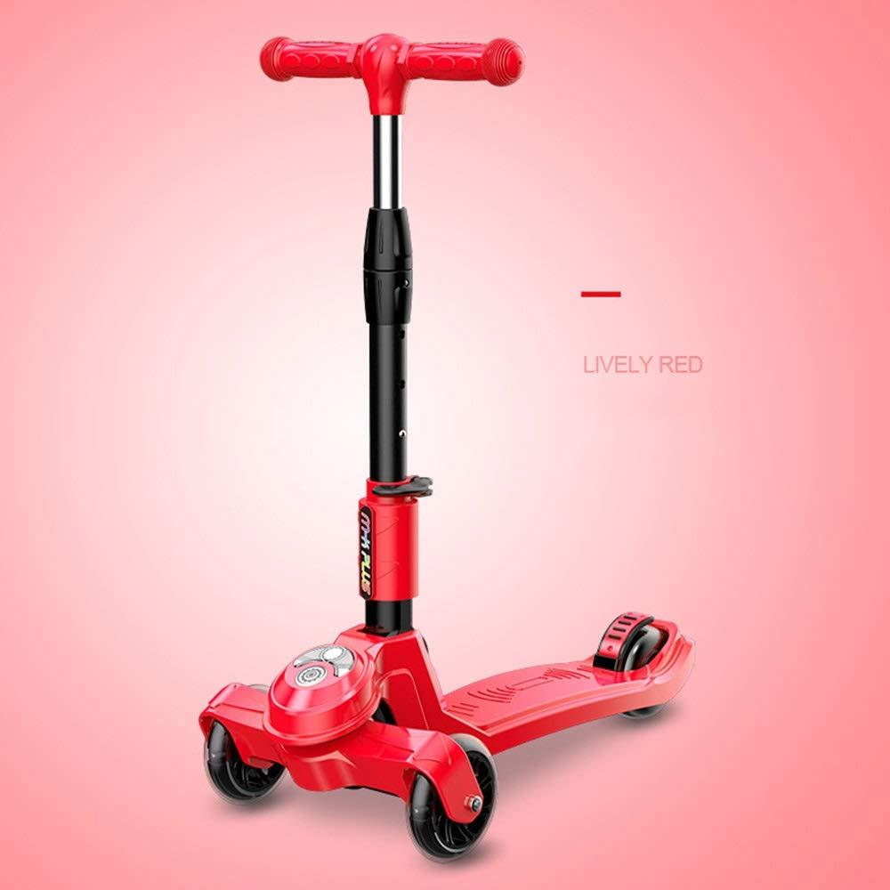 ファッションなデザイン Bert100 3-15フラッシュ三輪スクーター、子供の初心者スクーター :、調整可能、折りたたみ可能、子供の誕生日プレゼント ) うまく設計された B07R1XFJTS ( Color : Red ) B07R1XFJTS, ブランディング:8c4a60d2 --- svecha37.ru