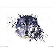 Posters: Wolves Poster Art Print - Snow Wolf, Sarah Stokes (16 x 12 inches)
