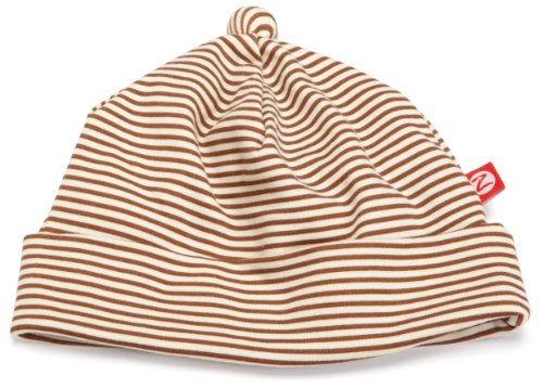 Zutano Hat Candy Stripe, Chocolate/Cream, 12 Months ( 6-12 months)