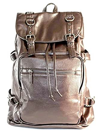 d4524b1160 AM Landen Synthetic Leather Backpack Kid Backpack Travel Daypack Handbag  (Brown-For Men 18.9 quot