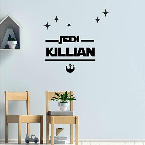 Stickers Mural Prenom Star Wars Avec Etoiles Et Symbole