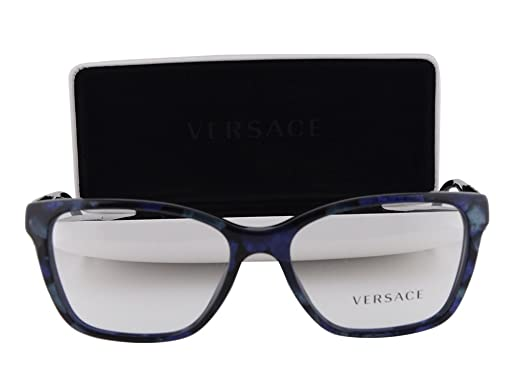 bc65c16f7680 Amazon.com  Versace VE 3192-B Eyeglasses 54-16-140 Marbled Black-Green-Blue  5127  Clothing