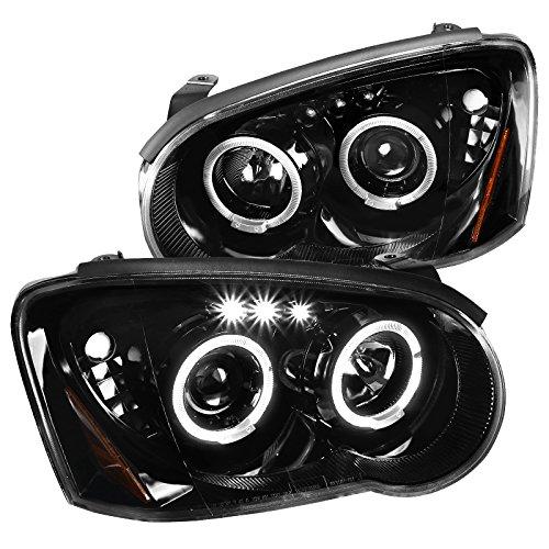 For Subaru Impreza WRX Jet Black LED Halo Projector Headlights Left+Right ()