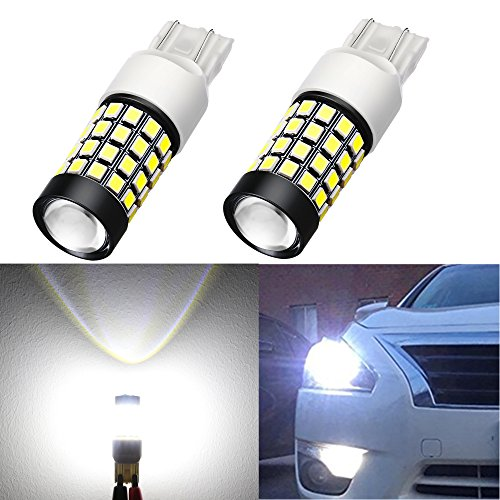 Alla Lighting 1000Lm 51-SMD Extremely Super Bright 6000K White T20 W21W 7441 7443 7440 LED Bulbs High Power 2835 Chipsets LED Lights Lamps Replacement
