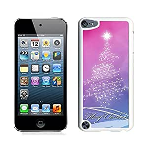 Ipod 5 Cases,Pink Purple Stars Christmas Tree White Hard Shell Plastic Apple Ipod Touch 5th Cases