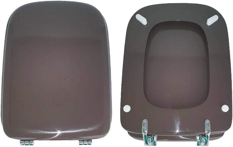 Abattant WC Conca Ideal Standard en bois recouvert de r/ésine polyester Castoro