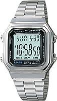 Casio A178WA-1ACF Reloj Digital Unisex, Plateado