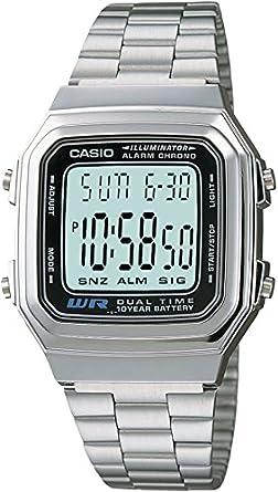 7d531b0b3a5e reloj casio unisex plateado