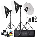 Neewer 540W(180W x 3)Professional Photography Studio Flash Strobe Light Lighting Kit for Portrait Photography,Studio and Video Shoots(T-180B)
