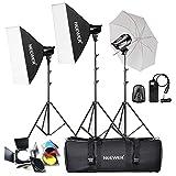 Neewer® 540W(180W x 3)Professional Photography Studio Flash Strobe Light Lighting Kit for Portrait Photography,Studio and Video Shoots(T-180B)