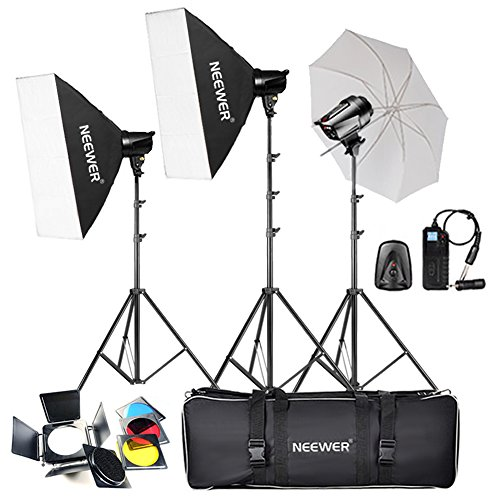 Single Flash Strobe (Neewer 540W(180W x 3)Professional Photography Studio Flash Strobe Light Lighting Kit for Portrait Photography,Studio and Video Shoots(T-180B))