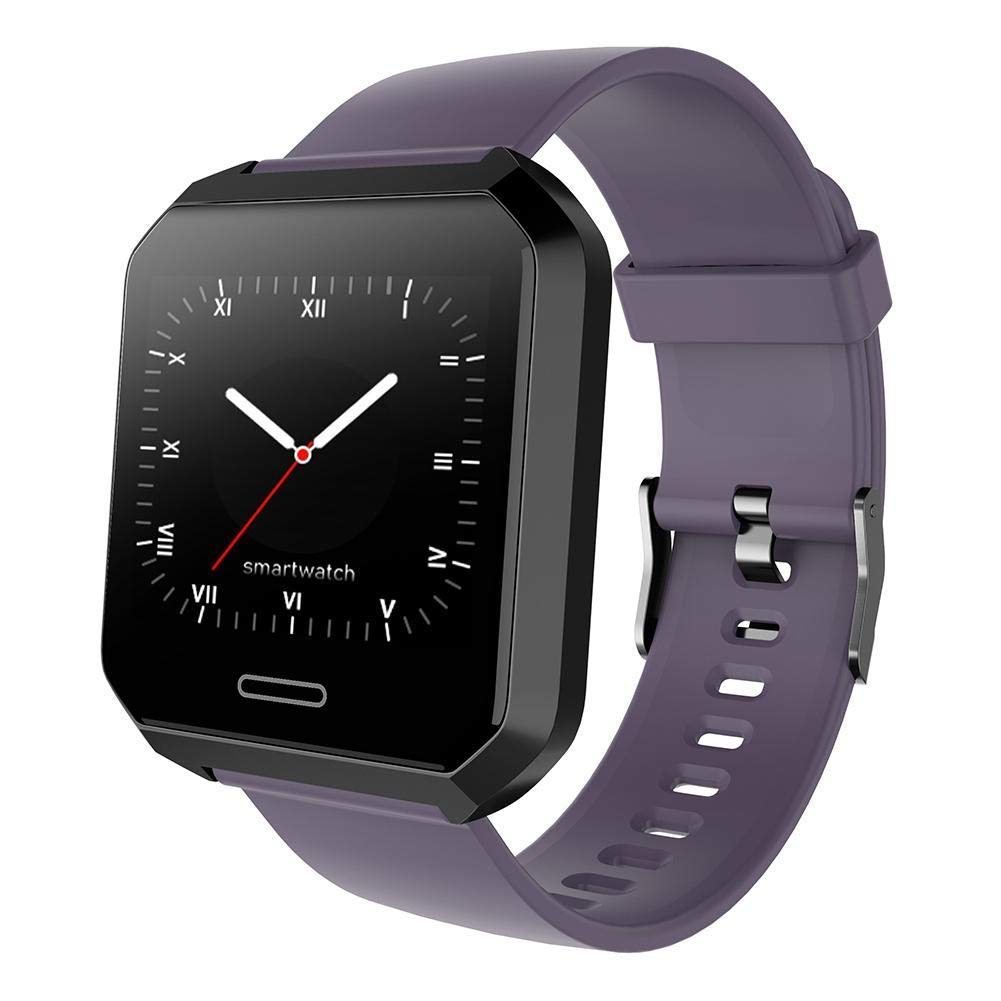 TechCode Sports Watches, HD Color Screen Activity Tracker IP67 Waterproof Fitness Wristband Sport Watch with Heart Rate Sleep Monitor Calorie Counter for Android iOS Phone(Purple)