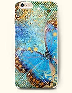 OFFIT Case Cover For SamSung Galaxy Note 2 Dreamlike Blue Butterfly