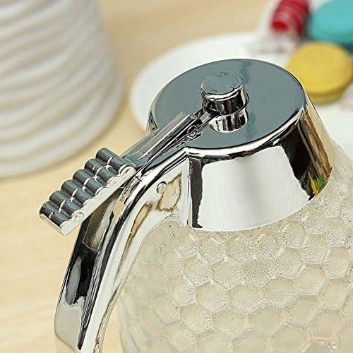 Yongse Barcos 200ML Dispensador de nido de abeja acr/ílico Honey Pot Salsa Crystal Jarabe dispensador