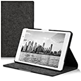 kwmobile Case for Sony Xperia Tablet Z3 Compact - Slim Book Style Protective Tablet Cover with Stand Feature - dark grey