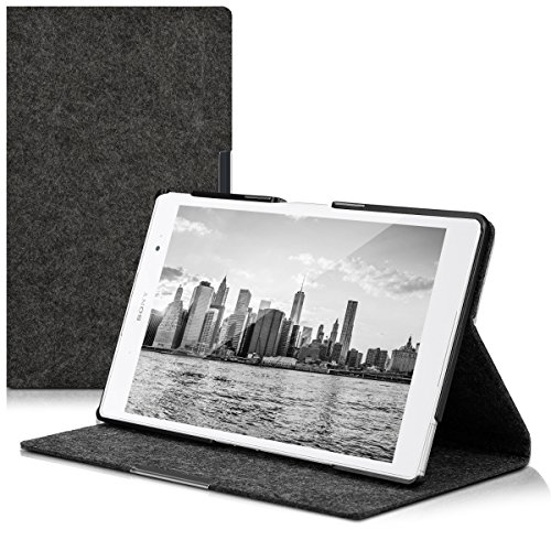 kwmobile Case for Sony Xperia Tablet Z3 Compact - Slim Book Style Protective Tablet Cover with Stand Feature - dark grey by kwmobile