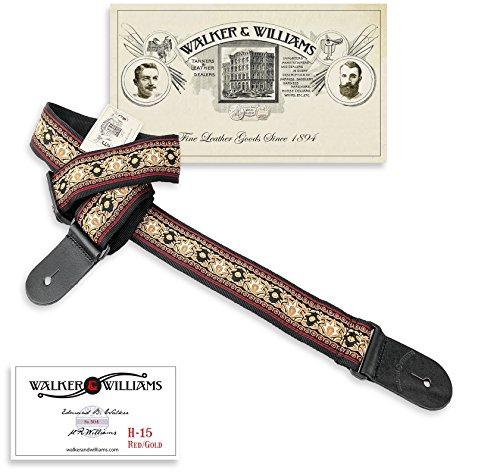 Walker & Williams H-15 Golden Lotus 60's Style Hootenany Hippie Guitar -