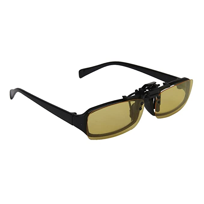 d86d36a210cc Imported Night Vision Polarized Driving Clip-on Flip-up Lens Sunglasses  Glasses S  Amazon.in  Clothing   Accessories