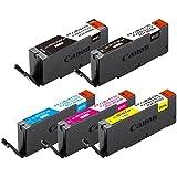 【Amazon.co.jp限定】 エコリカ リサイクルインクカートリッジ Canon(キヤノン) BCI-351XL+350XL/5MP 5色パック EC-C351XL+350XL/5A (FFP・封筒パッケージ)