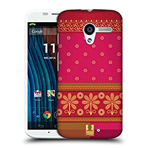 Head Case Designs Fuchsia Saree Protective Snap-on Hard Back Case Cover for Motorola Moto X